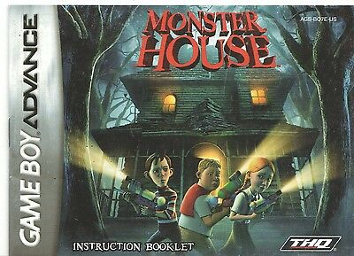 [MANUAL] Nintendo GameBoy Advance Monster House Instruction Booklet