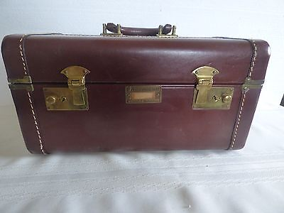 Vintage leather Crown Voyage overnight  luggage case