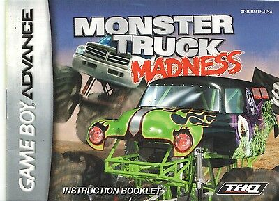 [MANUAL] Nintendo GameBoy Advance Monster Truck Madness Instruction Booklet