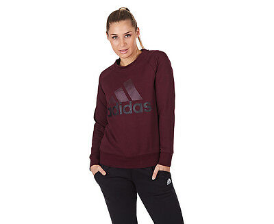 Adidas Women's Essentials Linear Sweatshirt - Maroon