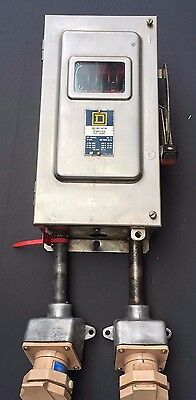 SQUARE D Enclosed Switch H362-DS Fused 60A with Crouse Hind 30 amp Receptacles