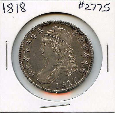 1818 50C Capped Bust Silver Half Dollar. Circulated. Lot #2552