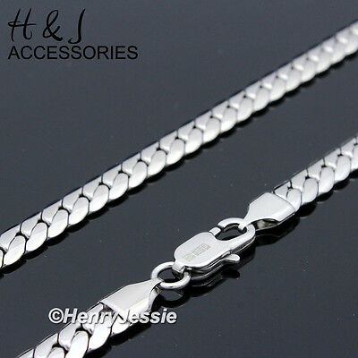 """18-40""""MEN 316L Stainless Steel 6mm Silver Miami Cuban Curb Link Chain Necklace"""
