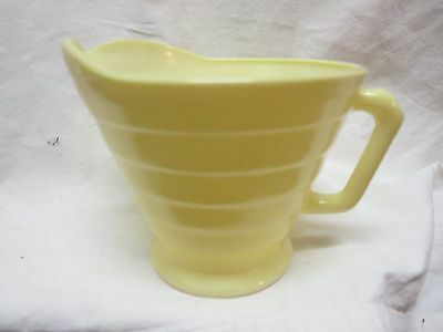 Moderntone Depression Glass Creamer Pastel Yellow In & Out  Platonite