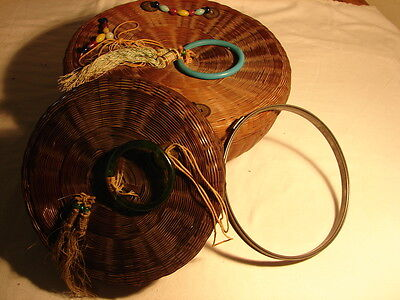 Old Sewing Basket and Button Basket