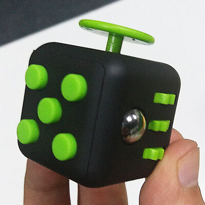 Fidget Cube Hand Finger Spinner Toy Adults Fun Stress Relief Autism Anxiety New
