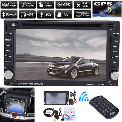 "New 6.2"" Double 2 Din Car DVD Player Radio Stereo GPS MP3 AUX USB Bluetooth AU"