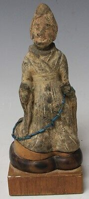 EARLY CHINESE QUAN YIN STATUE ON STAND Lot 6505