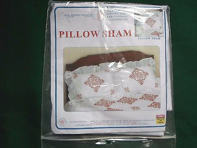 (1) Pillow Sham Stamped to Embroider with Backing ~ S6 ~ COLONIAL WILLIAMSBURG