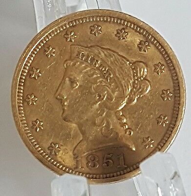 1851 $2.50 Liberty Gold Quarter Eagle - Liberty Head- Nice Grade !