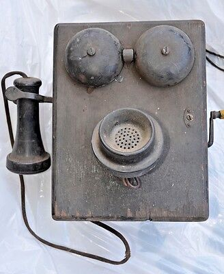EARLY 1900's ANTIQUE WALL MOUNT TELEPHONE