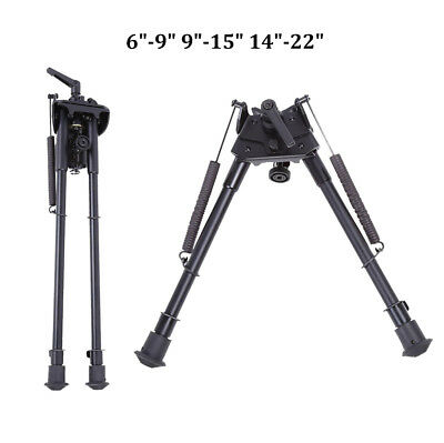 "Tactical 6""-9"" 9""-15"" 14""-22"" Swivel Foldable Rifle Bipod Mount Outdoor Sport JS"