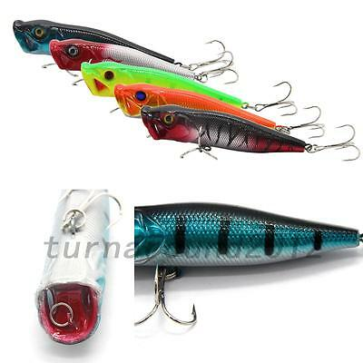 Portable 5pcs DW-1704 Colorful Plastic Fishing Baits Lures Crank Bait Hooks New