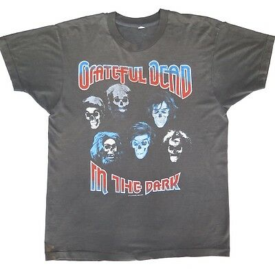 Vintage Original Concert Tee Shirt Grateful Dead In The Dark 1987 Large Thin