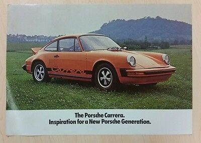 1974 Porsche Carrera (911) original sales brochure from the USA