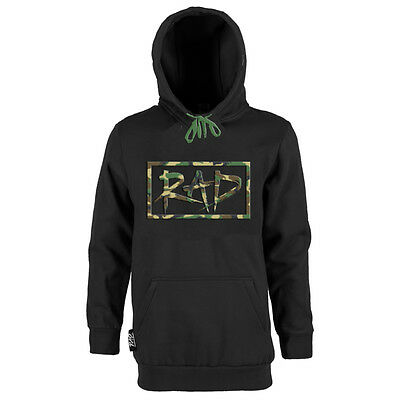 Rad The Logo Hoodie Mens Tall Snowboard Hoody Black Camo LT XLT