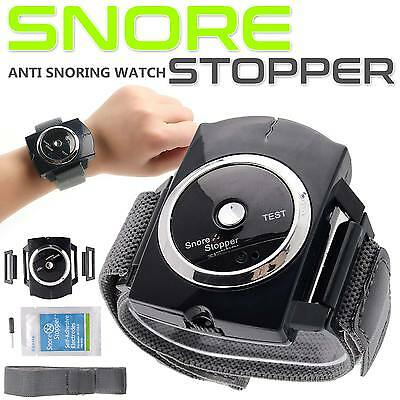 New Anti Snore Stopper Wristband Intelligent Infrared Stop Snoring Device Aid
