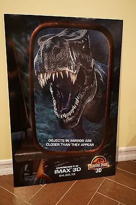 Rare Jurassic Park 3D Orig IMAX Foam Back Movie Poster
