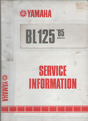 Yamaha Bl125 Service Information & Fold-Out Wiring Diagram - 1984 1St Edition
