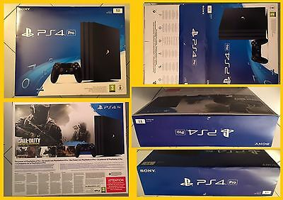 Sony Playstation 4 PRO PS4 1T CUH 7016B Scatola ® Genuine Box Scatolo Confezione