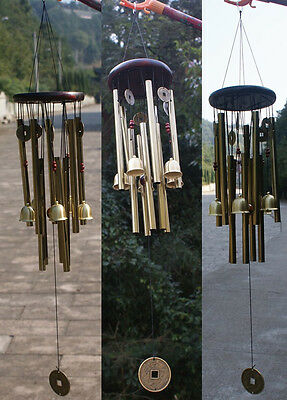 Large Deep Tone Resonant Bass Chapel Windchime CHURCH BELL Wind Chime Home Decor