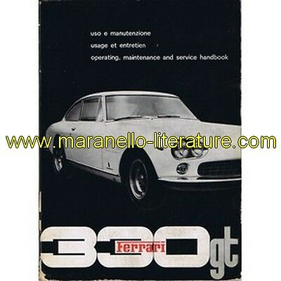 (5084) 1964 Ferrari 330 GT 2+2 owner's manual (2nd printing) (Operating, mainten