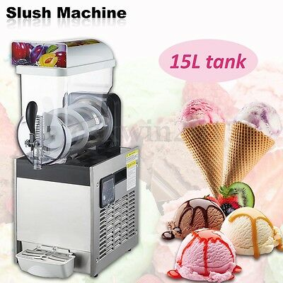 15L Container Tank Frozen Drink Slush Slushy Make Machine Smoothie Maker Ice