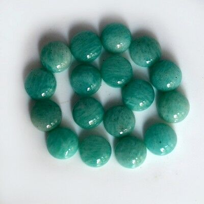 AAA Quality 10 Pc Natural Amazonite 12x12 mm Round Plain Cabochon Loose Gemstone