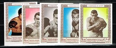 Manama.1969.Boxing Champions.Imperforated.Sport.MNH.**