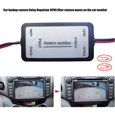 Car backup camera Relay Regulator Solve Ripple Splash Screen Interference Filter