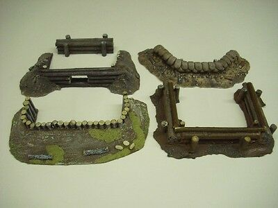 Wargames scenery. 5 piece set of earthworks/emplacements for 28mm (setC)