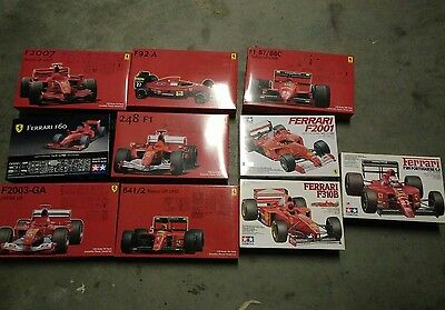 1/20 Ferrari F1 collection 11 kits F60 F92a 248F1 F310B F2007 F189 F2001 F2003GA