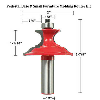 Pedestal Base & Small Furniture Molding Woodworking Router Bit - 1/2'' Shank