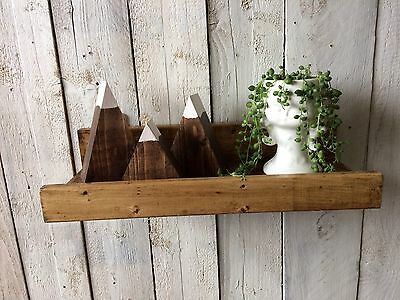 Handmade Wooden Mountains Scandi Retro Room Decoration Display Boys Girls Room