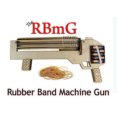 RBMG Rubber Band Machine Gun Power Shoot Rapid Fire Shoots Up to 10 Wooden Toys