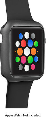 Insignia - Bumper Case for Apple Watch 42mm - Space Gray