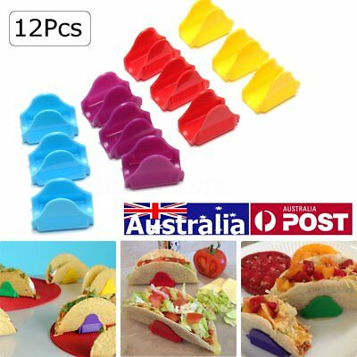 12X Taco Holders Stand Mexican Tacomate Unbreakable Shell Stands Kitchen Supply