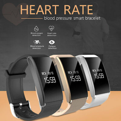 Smart Watch Sports Bracelet Bluetooth OLED Heart Rate Monitor Blood Pressure UK