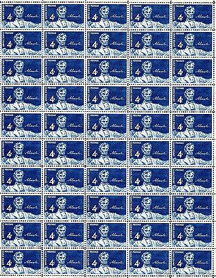 1959 - STATUE OF LINCOLN - #1116 Full Mint Sheet of 50 Vintage Postage Stamps