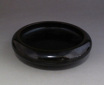 Old Chinese Black Glaze Porcelain Brush Washer