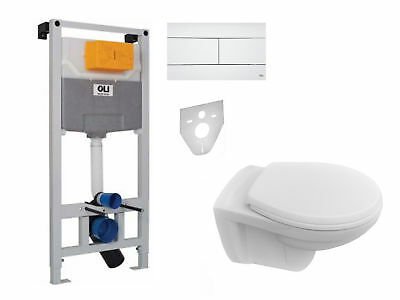 WC-Vorwandelement OLI 120 Pl. Slim w. Wand WC SET WC-Sitz Soft Close Komplettset