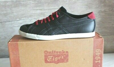 fe27259b84d6 Womens ASICS Onitsuka Tiger Coolidge Black Athletic Leather Sneakers Size  US-6.5