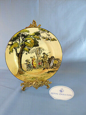 Royal Doulton Series Ware Cabinet Plate - The Gipsies D3191 Man leading Donkey