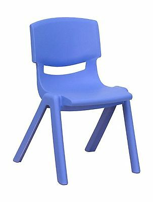 Flash Furniture YU-YCX-001-BLUE-GG Blue Plastic Stackable School Chair with 1...
