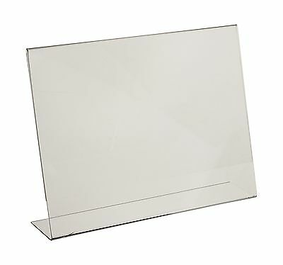 Dazzling Displays 3-pack Acrylic 11 x 8.5 Slanted Sign Holders