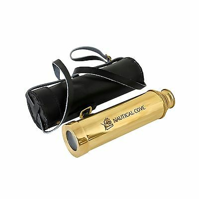 """Nautical Cove 15"""" Pirate Telescope Handheld Brass with Wooden Box For Kids Pr..."""