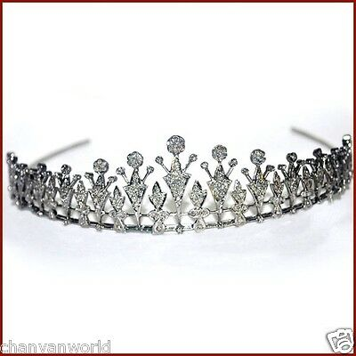 Royal Victorian Inspire 6.35Ct Rose Cut Diamond 925 Silver Party Tiara Crown CVW