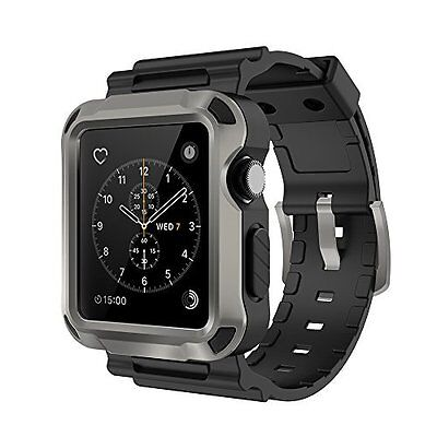 Shockproof Rugged Case for Apple Watch Series 1 2 3 42mm with Strap Bands iWatch
