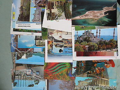 33 Modern Color Postcards Europe Asia Africa Etc Postally Used