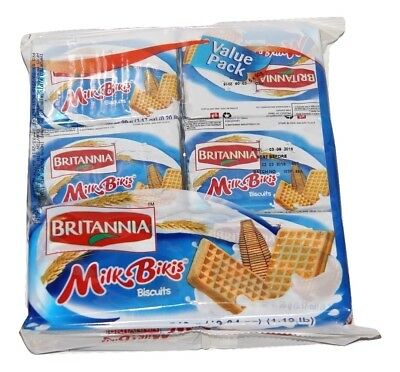 Britannia Milk Bikis Biscuits 90gm X 6 Pcs , Value Pack